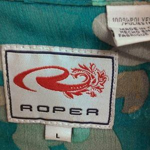Roper sheer shirt size large
